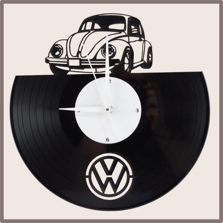 Schallplatten wanduhr vw k fer - Wanduhr schallplatte ...
